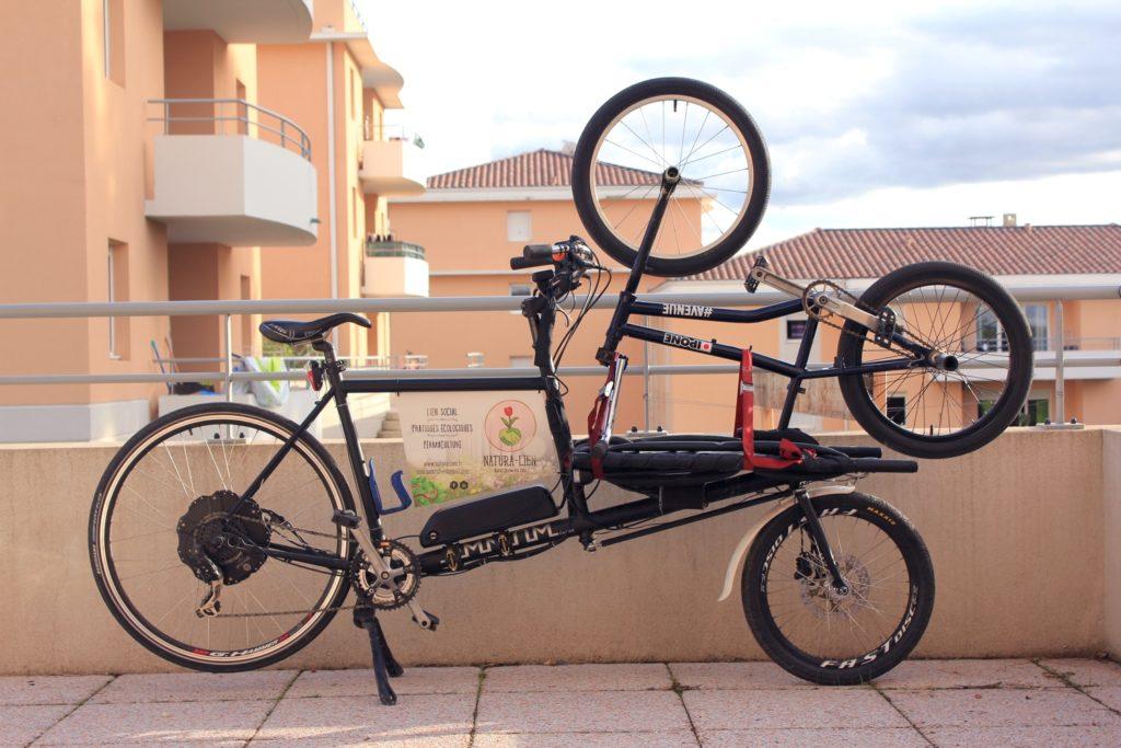 Un exemple de ce qu'on peut faire avec un vélo cargo!