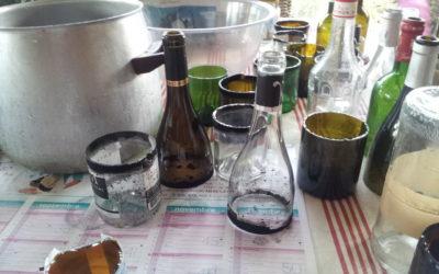 Découpe de bouteilles en verre