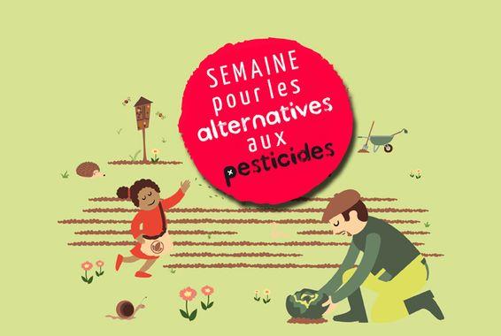 affiche de la semaine pour les alternatives aux pesticides, du 20 au 30 Mars chaque année en France