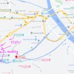 Carte du lieu de rendez-vous : parking des neufs écluses de Fonseranes