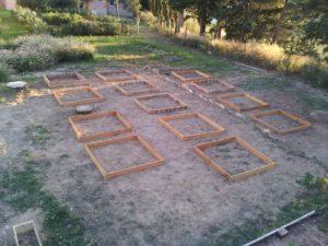 photo d'un jardin avant un design en permaculture