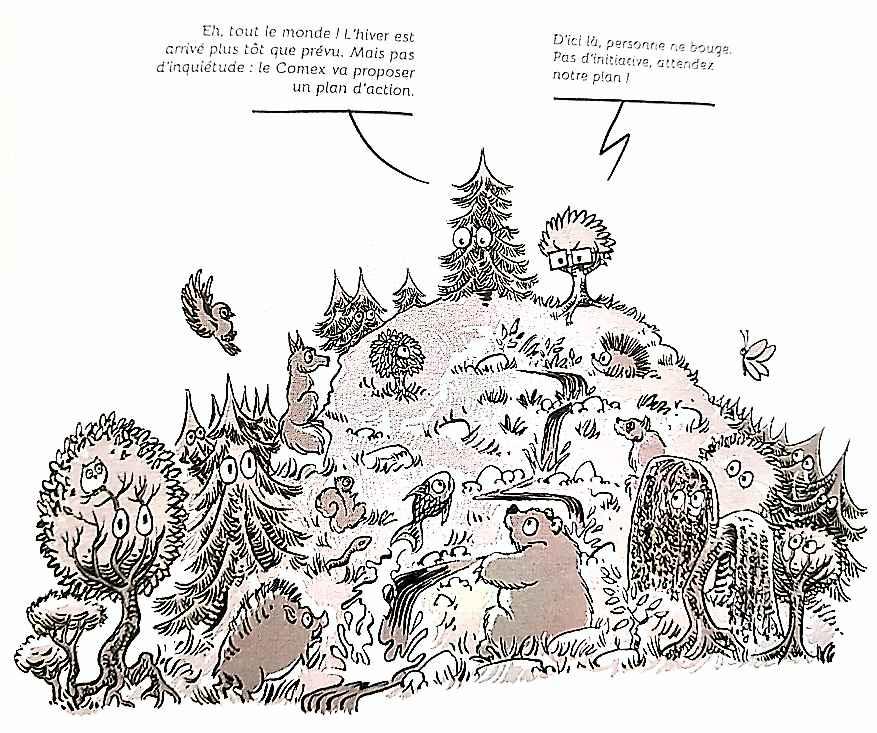 Le contraire d'une organisation à base de sollicitation d'avis : une forêt avec un comité de direction!